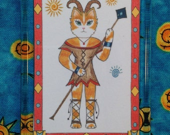 Aries Magnet - Zodiac Aries Magnet - Magent Aries - Cat Zodiac Magent
