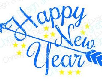 New Year svg / 2017 svg / celebration svg / party svg/ happy new year clip art / new year silhouette / celebration cut file / vinyl crafts