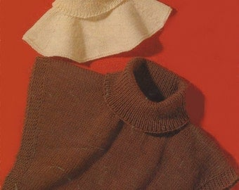 Womens and Mens Polo Neck Windcheaters - Collar Inserts Knitting Pattern : Jumper Collar . Sweater Collar . Neck Warmers - PDF Download