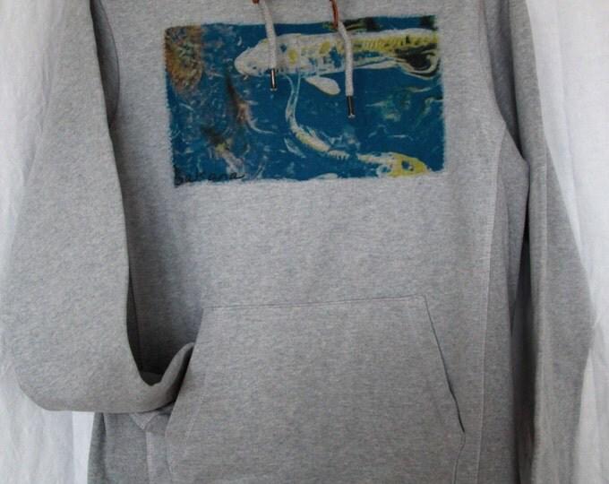 """Unisex Hoodie Sweatshirt by gray graphic """"sakana"""""""
