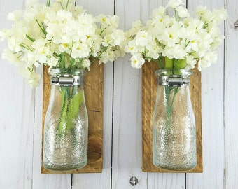 Reclaimed Wood Wall Decor Wall Vases for Flowers Wall Vase