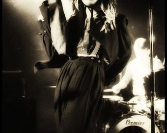 Pete Burns DEAD or ALIVE  Mr Pickwicks , Liverpool . February 3rd 1982  © gary lornie photography.