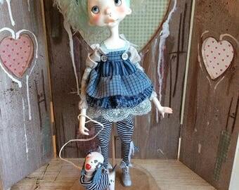 O.O.A.K. Art doll Moppiedoll Jessica de Geus Jet