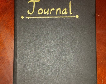 Handmade, Leather-Bound Journal - 96 sheets/182 pages - lined