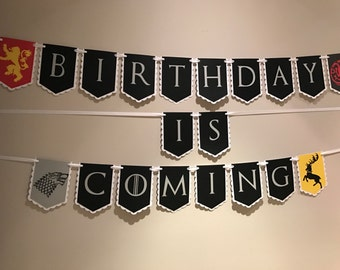 Game of Thrones Birthday Is Coming Banner