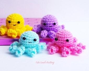 Crochet octopus, mini amigurumi octopus crochet toy, crochet stuffed animal, crochet plush toy, crochet animals, handmade toy