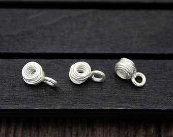 4 of Sterling Silver Wire Ball Charms
