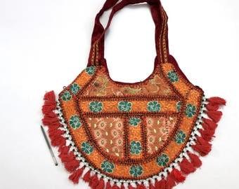Handmade Ethnic Designer Tribal Banjara Patchwork Embroidered Hippy Fashionable Stylish Trendy Hippie Gypsy Boho Bohemian Shopper Bag F145