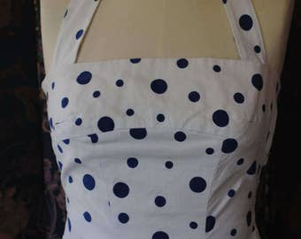 1950 backless dress.