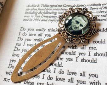 Gertrude Stein Bookmark - Gertrude Stein Gift, American Novelist Vintage Bookmark, Modernist Literature Gift, Modernist Author Bookmark
