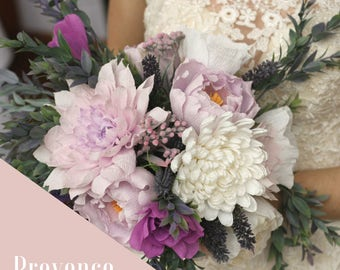 Beautiful Handmade Paper Wedding Bouquet - Provence