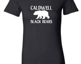 Caldwell Black Bears Ladies Fitted T-Shirt