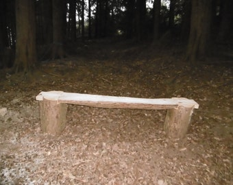 Rustic Garden Bench From Our Sustainably Managed Woodland