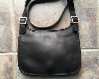 Like New Small Coach Black Leather Purse