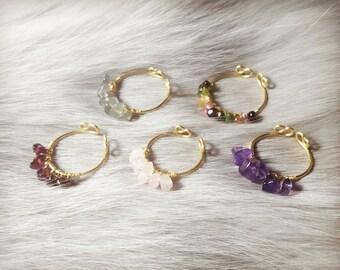 Adjustable crystal rings,Crystal rings,Stacking rings,Garnet rings,Amethyst rings,Pink quartz rings,Tourmaline rings,Labradorite rings