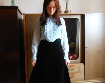 1970s velvet midi skirt A Line