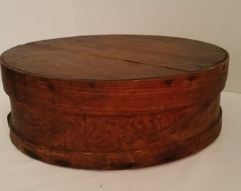 Cheese Box Vintage Wooden 14 Inch