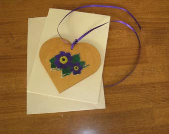 Bridesmaids' gift or  memento - Heart and flowers