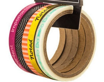 To Do Skinny Washi Tape Pack Perfect for Scrapbooks, Cards, Gift Packaging, Labels, Calendars, and so much more.