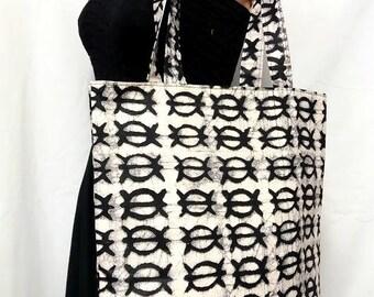 Batik African Printed Medium Tote/Shoulder/Shopper/Book Bag