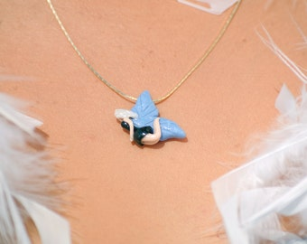 Sparkle Fairy Pendant, OOAK Shimmer Pixie Necklace