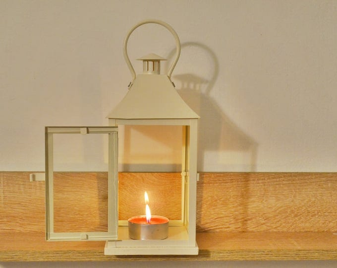10%OFF Vintage off white Lantern /Metallic Candle Holder / wedding Lanterns/ wedding lanterns centerpiece