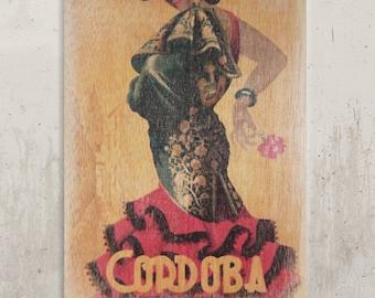 Vintage Poster - Vintage Poster Cordoba / / Transfer on wood
