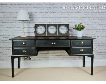 NOW SOLD Stag Minstrel Vintage Retro Sideboard in Annie Sloan Charcoal Chalk Paint