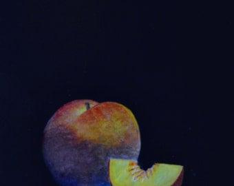 Peach paintings  fruit paintings  kitchen art  still life paintings  kitchen decor  Peaches