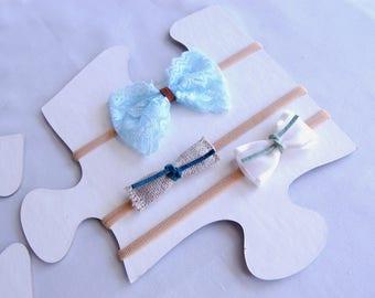 Toddler Headband | Baby Nylon Headband,  Skinny nylon headbands, set of 3 baby nylon headbands