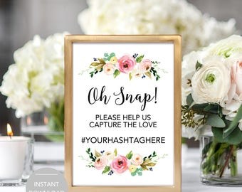 Hashtag Wedding Sign, Wedding Hashtag Sign, Printable Hashtag Sign, Instant Download Hashtag Sign, Hashtag Sign Template, Hashtag Sign PDF