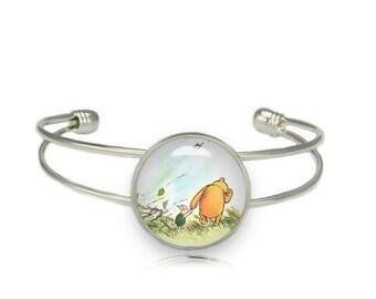 Winnie the Pooh Cuff Bangle Bracelet Winnie the Pooh and Piglet Classic Winnie Pooh Jewelry