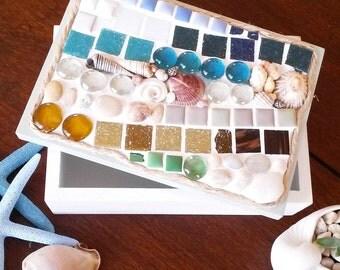 Beachy Coastal Jewellery or Trinket Box