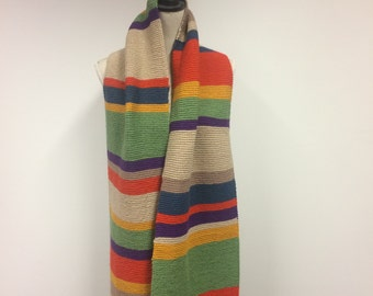 Doctor Who Inspired 8ft Knitted Scarf
