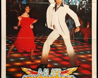 "Saturday Night Fever (1977) Vintage German Movie Poster - 23"" x 33"""