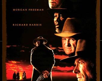 "Unforgiven (1992) Vintage Movie Poster - 27""x 40"""