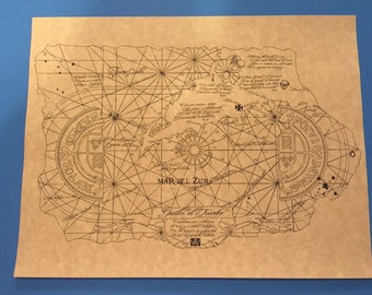 1985 Goonies One Eyed Willie Treasure Map Prop/Replica > Mikey > Fratelli's