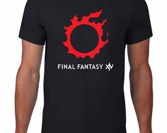 Final Fantasy XIV (14) inspired logo mens Tshirt
