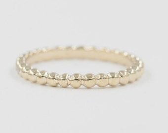 Beaded Simple Wedding band.Rose Gold Wedding band.Beaded wedding band.14k Solid White Gold,Yellow Gold Ring.Wedding Band.14k Rose Gold Ring.