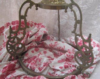 French BED CANOPY Corona CIELdeLIT Bronze/Brass Scrolls HEMELBED 天蓋 천개 机壳 Bedroom Decoration Drapes not included