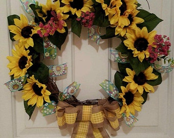 Daisy Spring Wreath