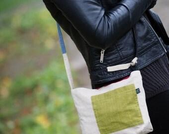 Patch Bag // Shoulder Bag // Canvas Bag // Small Handbag