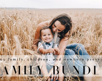 Family & Baby Bundle Lightroom Presets Professional Photo Editing for Portraits, Newborns, Weddings By LouMarksPhoto