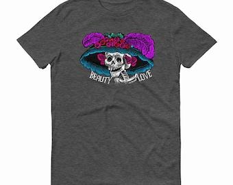 Catrina,  Day of the Dead, Sugar Skull T-Shirts, Beauty and Love, Catrina T-shirt, Skeleton T-shirt