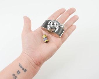 Vintage 1950s Crystar Subminiature Spy Camera plus FILM Tiny Retro Kitsch Japan
