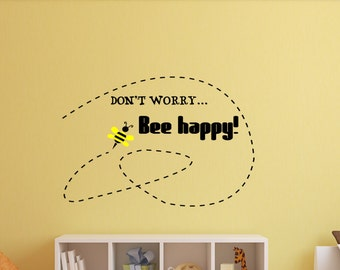 Dont Worry Bee Happy Decal Bumble