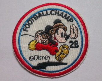 mickey mouse football champ iron on applique disney mickey football player iron on patch mickey iron on application