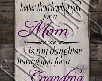 The Only Thing Better than having you for a mom is my Daughter having you for a Grandma SVG PNG JPG