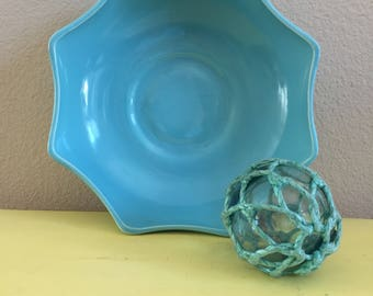Octagonal Blue Vintage Planter