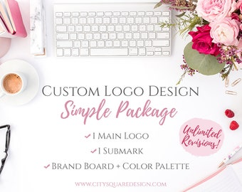 Custom Logo Design, Small Business Logo Design, Professional Logo Design, Custom Graphic Design, Custom Logo + Submark Pack, Simple Package